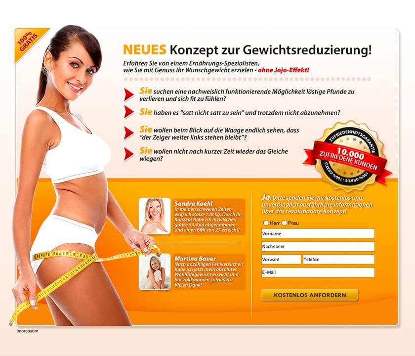 Landinpage Bild JV ELite Club Neues Konzept zur Gewichtsreduzierung