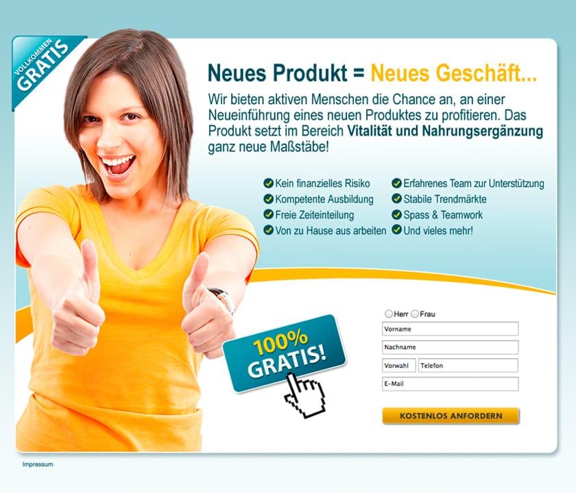 Landinpage Bild JV ELite Club, Neues Produkt_neues Geschäft